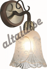 Бра Altalusse INL-9271W-01 Antique brass & Walnut